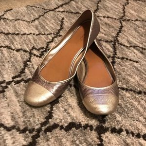 Banana Republic Metallic Gold-Toned Ballet Flats